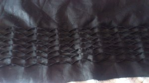 black pleat