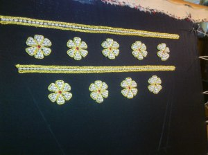 pearl embroidery, fifteenth century