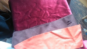 brown red scrap