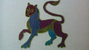 leopard outlined
